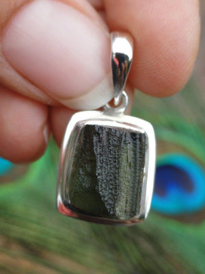 Powerful Extraterrestrial Energies Green MOLDAVITE PENDANT In Sterling Silver (Includes Free Silver Chain)* - Earth Family Crystals