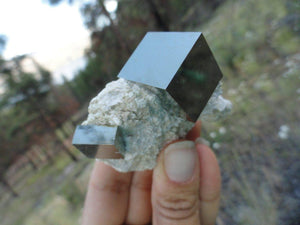 Perfectly Natural Cubic PYRITE Crystals on Matrix** Hippie Healing Magic Reiki Chakras - Earth Family Crystals