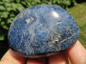 Dark Blue DUMORTIERITE Palm Stone* - Earth Family Crystals