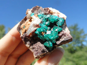 Gorgeous Gemmy Emerald Green Dioptase on Matrix* - Earth Family Crystals