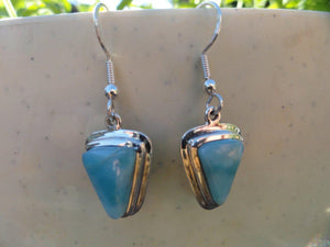 Goddess Blue LARIMAR EARRINGS In Sterling Silver* - Earth Family Crystals