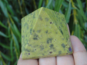 Australian ATLANTISITE PYRAMID~ Stone of a Relaxed attitude, Inner Peace, Protection from negativity* - Earth Family Crystals