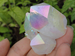 Striking Opal Glow ANGEL AURA QUARTZ Cluster With Self Healed Base* - Earth Family Crystals