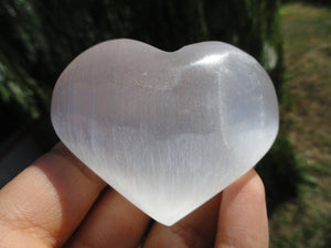 Beautiful High Vibration SELENITE HEART* - Earth Family Crystals