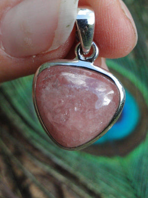 Ultra Feminine PINK RHODOCHROSITE PENDANT In sterling Silver (Includes Free Silver Chain)* - Earth Family Crystals