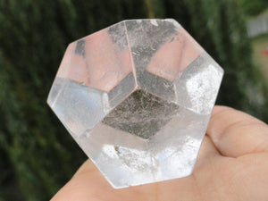 Jumbo CLEAR QUARTZ DODECAHEDRON Sacred Geometry Shape* - Earth Family Crystals