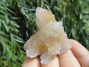 Super Sparkly Golden Citrine SPIRIT QUARTZ  CLUSTER* - Earth Family Crystals