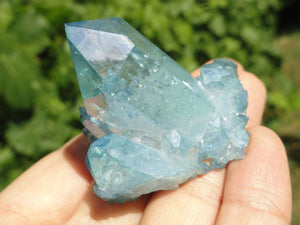Chunky Amazing Blue AQUA AURA QUARTZ Cluster * - Earth Family Crystals
