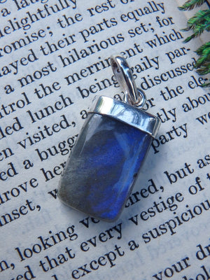 Flashes Of Pretty Blue Labradorite Pendant In Sterling Silver (Includes Silver Chain) - Earth Family Crystals