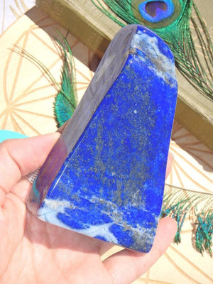 AA High Grade Celestial Deep Blue & Golden Pyrite Lapis Lazuli Display Specimen - Earth Family Crystals
