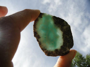 LARIMAR Crystal Slice From The Caribbean~ The Dolphin Stone* - Earth Family Crystals