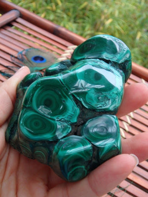 Caves & Swirls Large Malachite Specimen - Earth Family Crystals