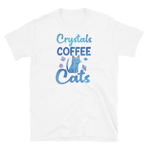 Crystals Coffee Cats T-Shirt White