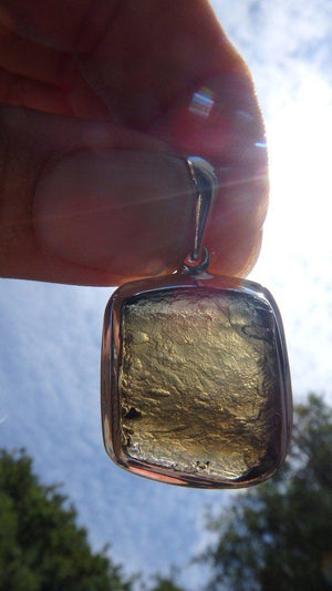 Amazing Energy Moldavite Gemstone Pendant In Sterling Silver (Includes Silver Chain) - Earth Family Crystals