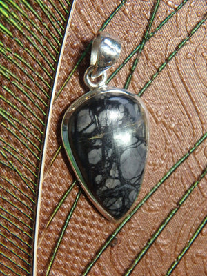 Unique Picasso Jasper Gemstone Pendant In Sterling Silver (Includes Free Silver Chain) - Earth Family Crystals