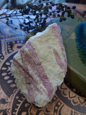 Heart Chakra Bliss! Large Pink Tourmaline Nestled in Creamy White Quartz Matrix - Earth Family Crystals