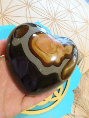Incredible Puffy Polychrome Jasper Large Love Heart - Earth Family Crystals