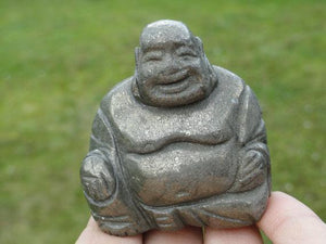 BUDDHA PYRITE CARVING~ - Earth Family Crystals