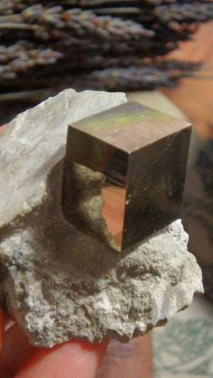 Amazingly Natural Cubic Pyrite In Matrix From Spain - Earth Family Crystals