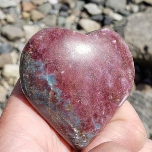 Ruby Kyanite Heart Carving From India