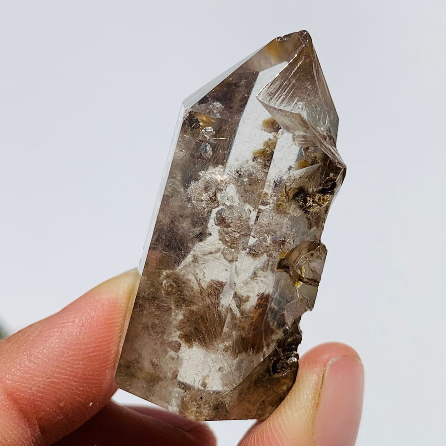 Unique Inner Child Points Shamanic Dream Quartz Standing Partially Polished Point