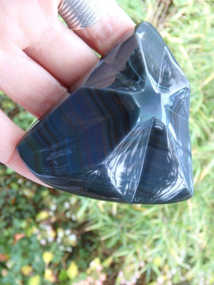 Star Bright~Stunning Rainbow Obsidian Star Display Specimen - Earth Family Crystals