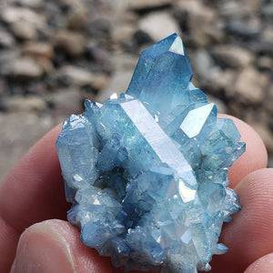 Aqua Aura Blue Druzy Quartz Cluster from Arkansas #2