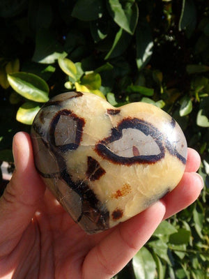 Ancient Vibes Septarian Gemstone Heart - Earth Family Crystals