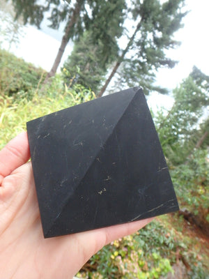 XL EMF Protection Unpolished Shungite Pyramid Carving (REDUCED) - Earth Family Crystals