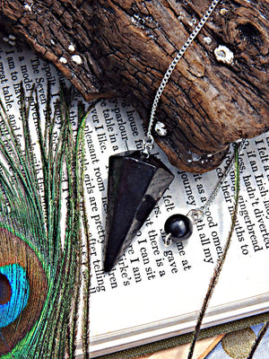 EMF Protection Shungite Pendulum - Earth Family Crystals