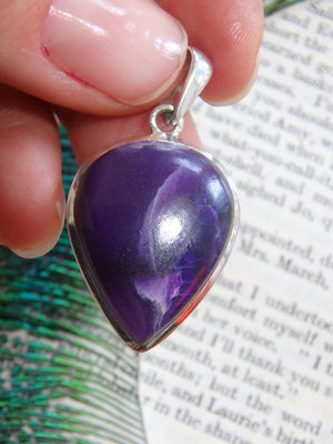 Rare & Deeply Spiritual Sugilite Gemstone Pendant In Sterling Silver (Includes Silver Chain) - Earth Family Crystals