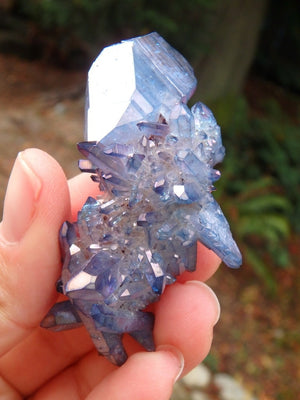 Pretty Tanzan Aura Quartz Cluster 2 - Earth Family Crystals