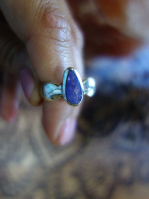 Divine Faceted Tanzanite Ring In Sterling Silver (Size 8.5) - Earth Family Crystals