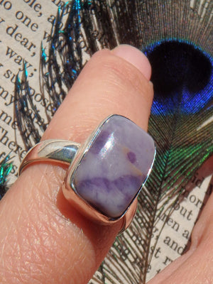 Tiffany Stone Purple Haze Ring in Sterling Silver (Size 6) - Earth Family Crystals