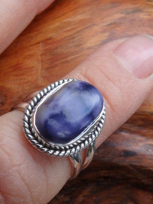 Beautiful Purple Tiffany Stone Ring In Sterling Silver (Size 6) - Earth Family Crystals