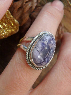 Pretty Pastel Purples Tiffany Stone Gemstone Ring in Sterling Silver (Size 7) - Earth Family Crystals