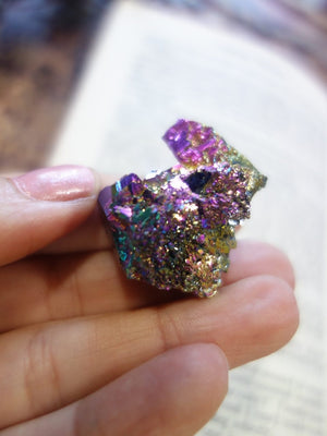 Beautiful Rainbows & Self Healing Titanium Quartz Cluster - Earth Family Crystals