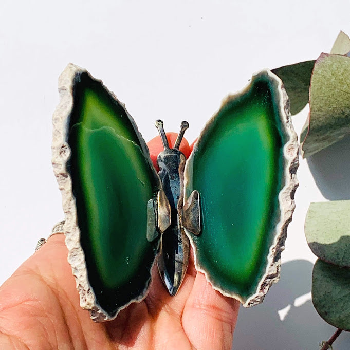 Gorgeous  Agate Display Butterfly Specimen #4