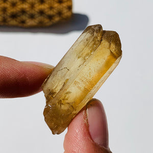 Twin Natural Citrine Point From Zambia