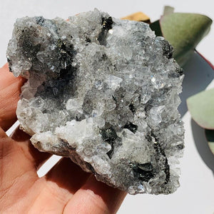 Brilliant Sparkle Chalcopyrite & Clear Stellar Beam Calcite Cluster From USA