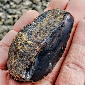 Rare Cognac & Blue Raw Amber Specimen From Indonesia #1