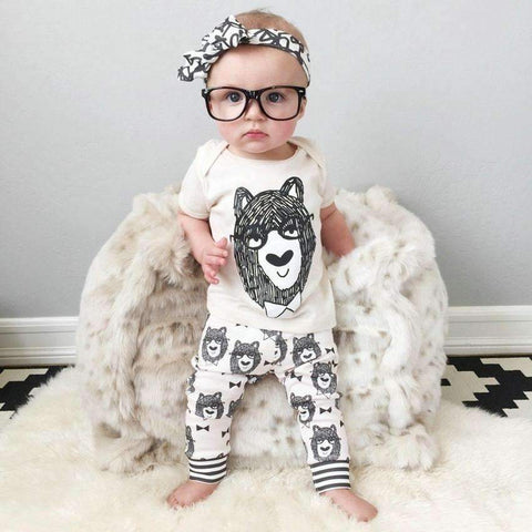 Bear print t-shirt & leggings set