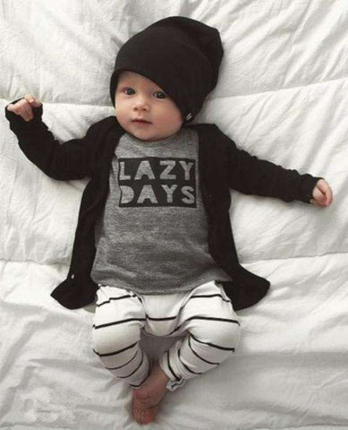 """Lazy Days"" shirt & pants set"