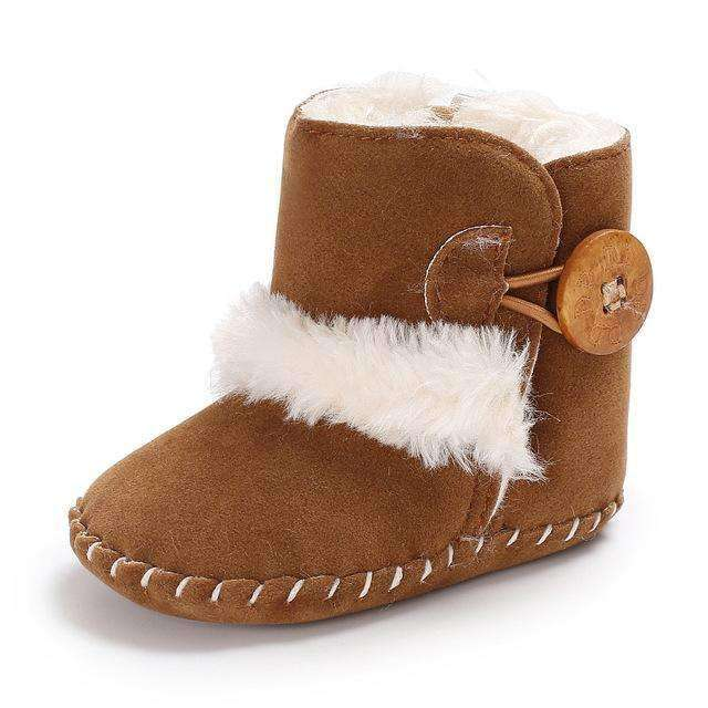 Casual Winter Infant Booties Shoes in Bronze