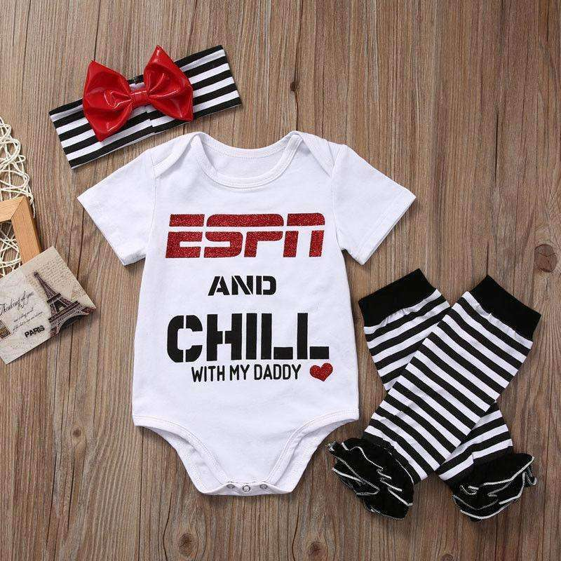 ESPN and Chill with Daddy Romper