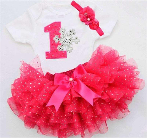 First Birthday Tutu Set Snowflake