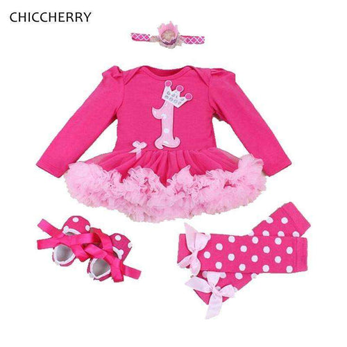 Cute Long-Sleeve Birthday Party Girl Outfit