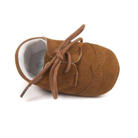 Gentleman Baby Shoes Soft Sole Bronze