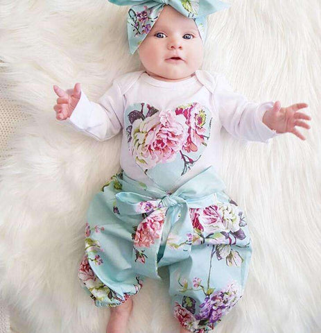 Girl Long Floral Fashion