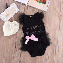"Load image into Gallery viewer, ""My Little Black Dress"" Onesie"